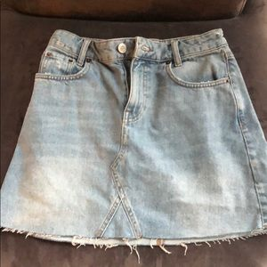 Urban Outfitters Jean Skirt Light Wash